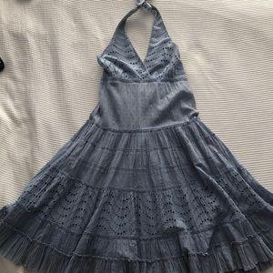BCBGMaxAzria Dresses - BCBG halter sundress